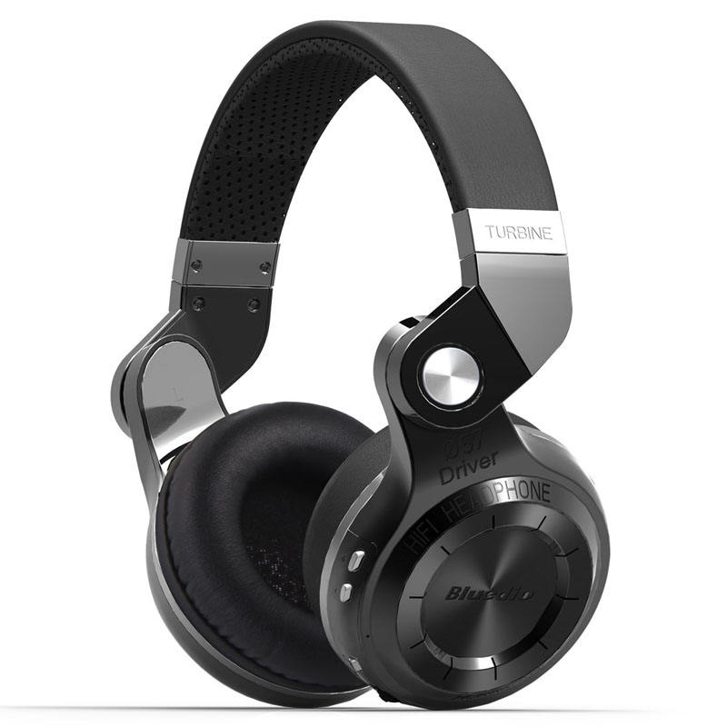 T2s Bluedio Bluetooth Headphone Di Telinga dengan Mic, 57mm Driver Rotary Lipat Wireless Headset