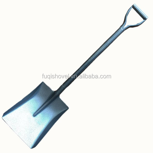Factory direct sale square point shovel with steel handle shovel chinese cheap shovel S501MY