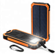power bank solar 20000mah Dual USB Port with led flashlight