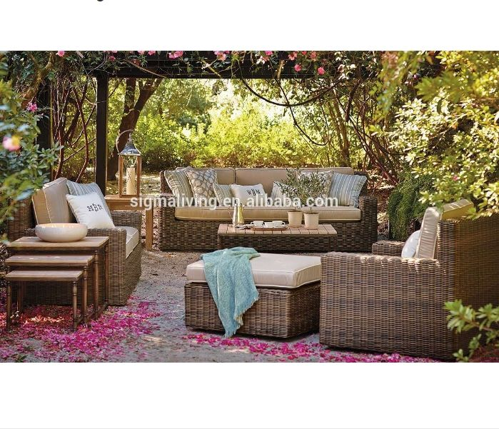 Hot sale outdoor garden furniture wicker rattan sofas sets for sale