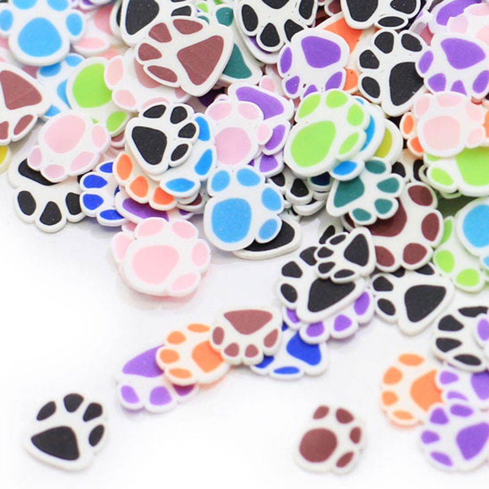 New Arrival 5mm Bear Paws Polymer Clay Sprinkles Lovely confetti for Crafts Making, DIY Confetti