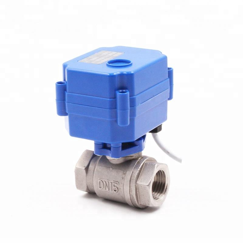 CWX-15N mini motorized ball valve motorized water control valve brass stainless steel electric actuator flow control valve