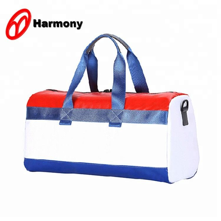 2019 Latest fashionable blue stripe men business travel packing bag