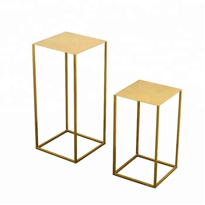 Wedding Party Flower Gold Metal Stand