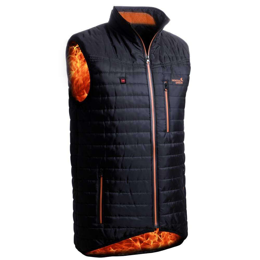 OEM & ODM graphene flexible heating fabric element for clothes men outdoor far infrared heating down vest jacket