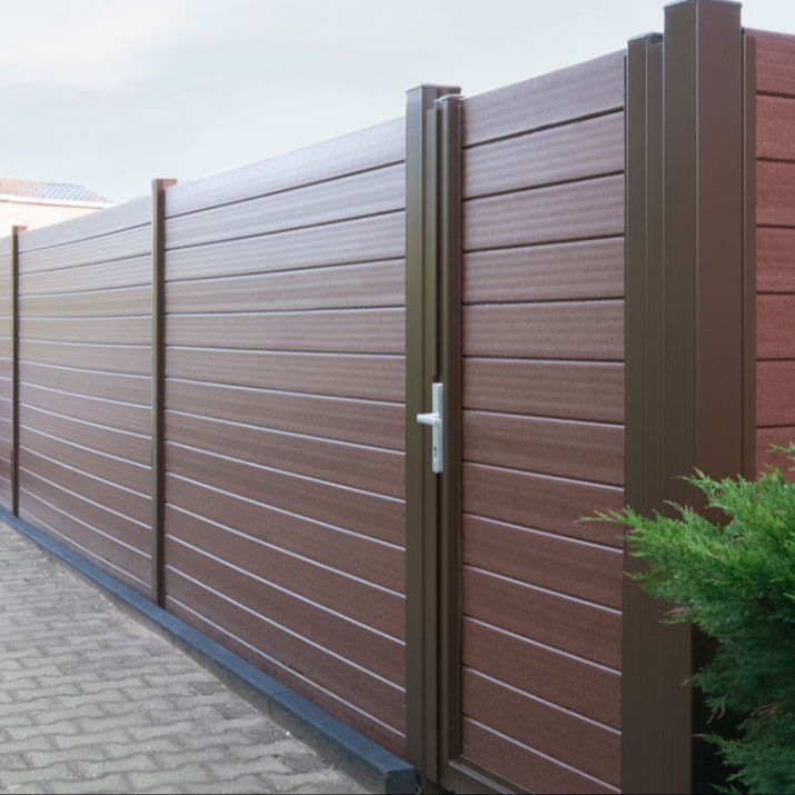 Easy-assembly outdoor garden composite fence for sale