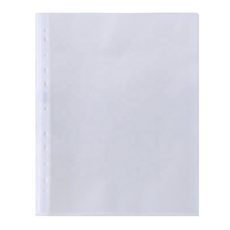 11 hole a4 size punch pocket A3 plastic pp transparent file folder sheet protector