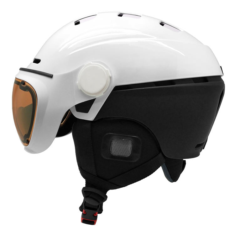Great ventilation adult white ski helmet