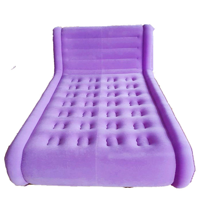 customized double flocked mattress PVC inflatable air bed