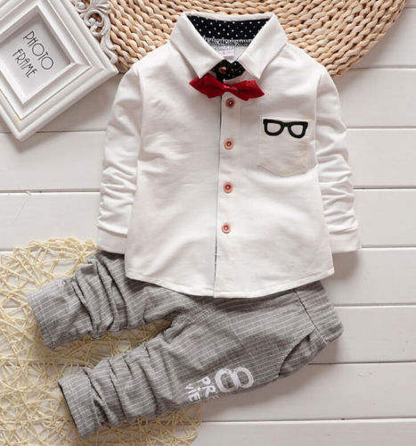 GX486 autumn winter formal baby party wear shirt differ colors boy clothing set for clearance