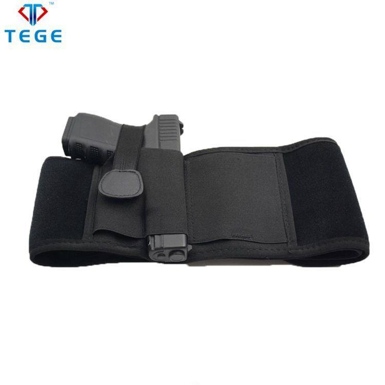 Adjustable Tactical Belly Waist Band Holsters Neoprene Glock Beretta Gun Pistol Multi-functional Military Bag Holster Holder