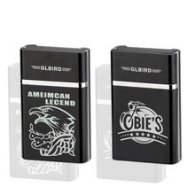 XY501502 New style Electronic Arc Cigarette case Rechargeable USB Cigarette Lighter With smoking Cigarette Case