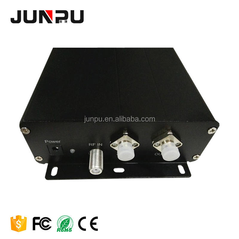 Junpu <span class=keywords><strong>Logam</strong></span> 1550nm Mini CATV Optik Mini <span class=keywords><strong>Pemancar</strong></span> TV untuk 10dBm