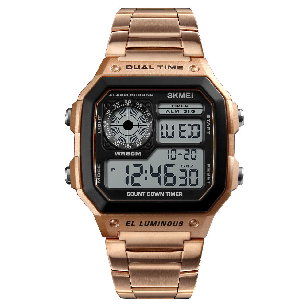 SKMEI Stainless Steel Digital Electronic Watches 1335