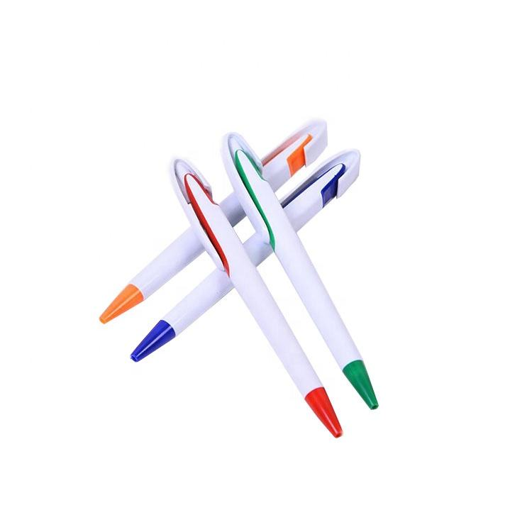 Office supply cheap transparent advertising promotional plastic ballpoint pen