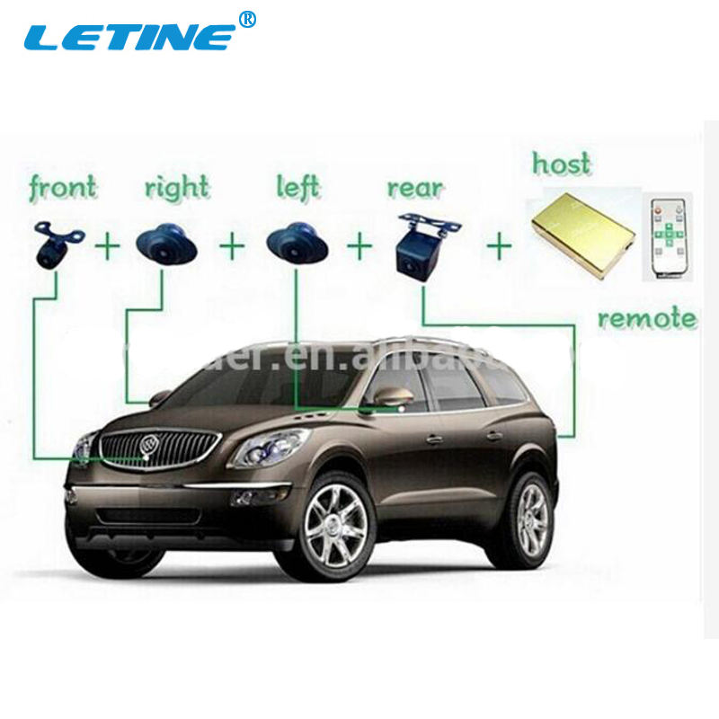New Bird View System 3D 360 Degree Rotation All Round View Car Parking Panorama Camera With Hidden Car Security Sensor