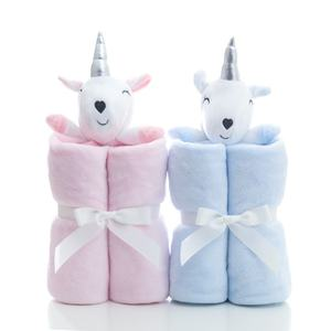 Child Cartoon Toy Blanket Baby Plush Animal Comfortable Blanket Flannel Unicorn Newborn Blanket
