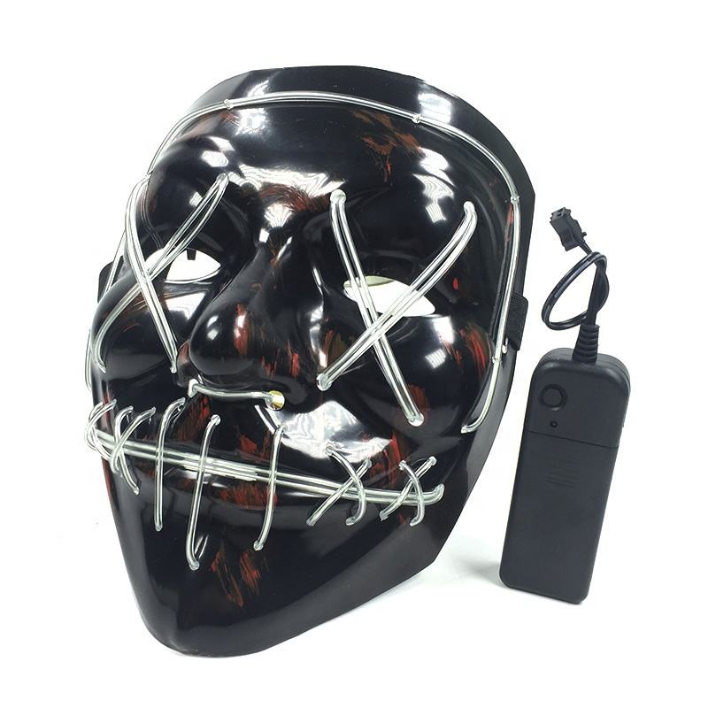 Thuis merk Hot selling LED masker maskerade el draad party masker cosplay led purge mask