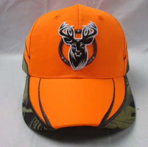 fluorescent orange color hunting cap