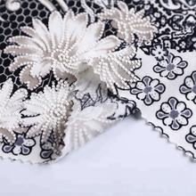 2018 new style wholesale 118D FDY black and white floral pigment printed jersey knit elastic fabric polyester fabric