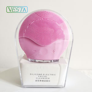 Vesta Electric Silicone Facial Cleansing Brush Face Massager Cleanser Facial Cleaning Brush Facial Brush for Pore Cleansing