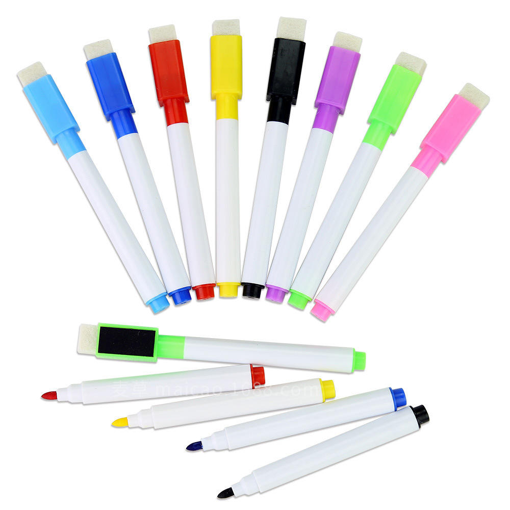 8PCS Package Colorful Glass Ceramics Writing Office School Use Whiteboard Marker