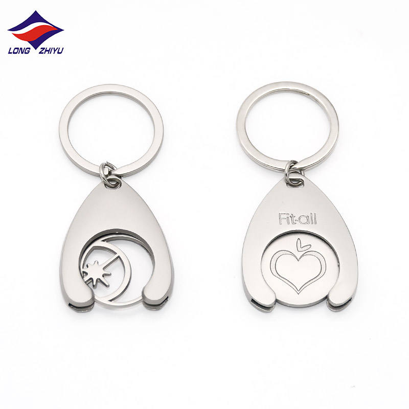 Longzhiyu 13 years china metal coin keychain manufacturer custom trolley coin keychain wholesale challenge coin keychain