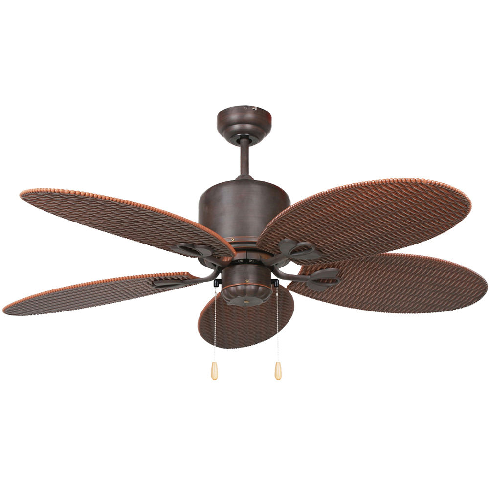 Orient Style Pendant Rattan Blade AC Electric Ceiling Fan With 100% Copper Motor