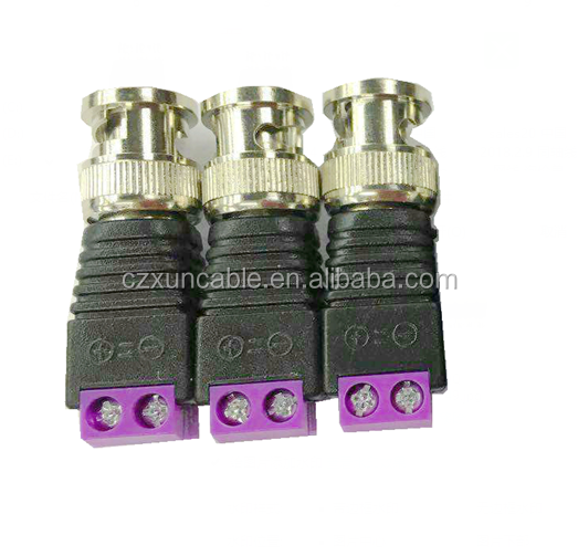 Screw Terminal Coax Cat5 to BNC Male Video Balun CCTV Connector Adapter