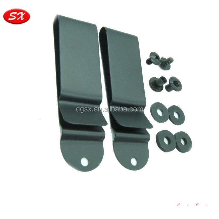custom metal stamping part for Visor Replacement Metal Clip Spring Belt Holster Sheath Clips
