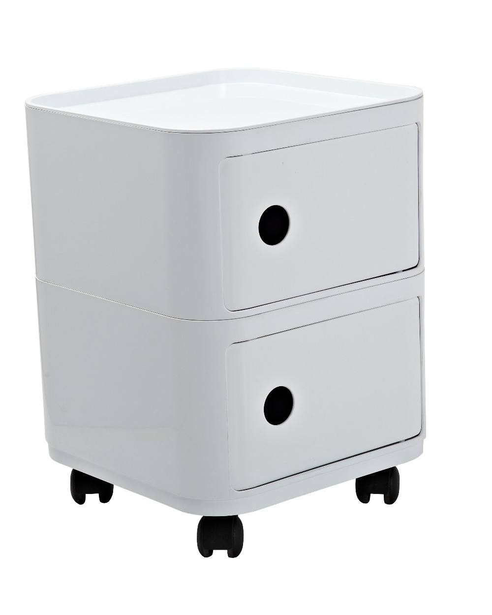 Stackable New Modern Style Universal Wheel Square Various Layers Plastic Storage Cabinets