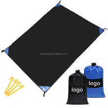 Woqi High Quality Camping Sand Free Beach Mat Waterproof Picnic Blanket,Picnic mat with carabiner,Pocket blanket