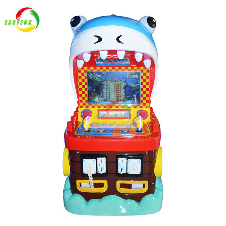 Kids coin operated big fish eat small fish hunter redemption video game machine