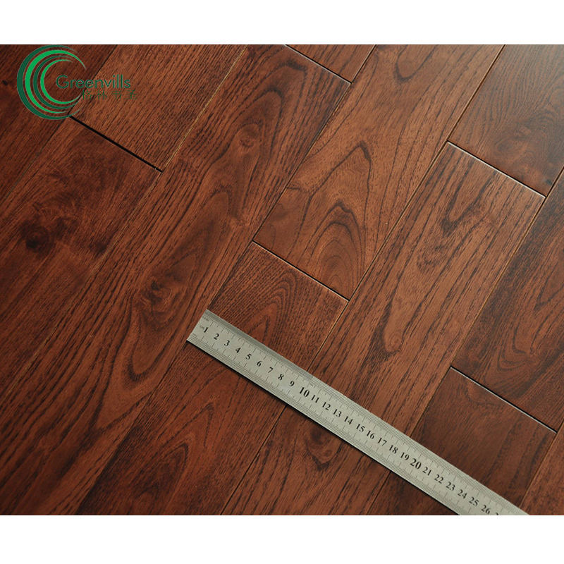 French White Oak/Teak/Acacia/Walnut/Hickory solid wood flooring good quality factory prices