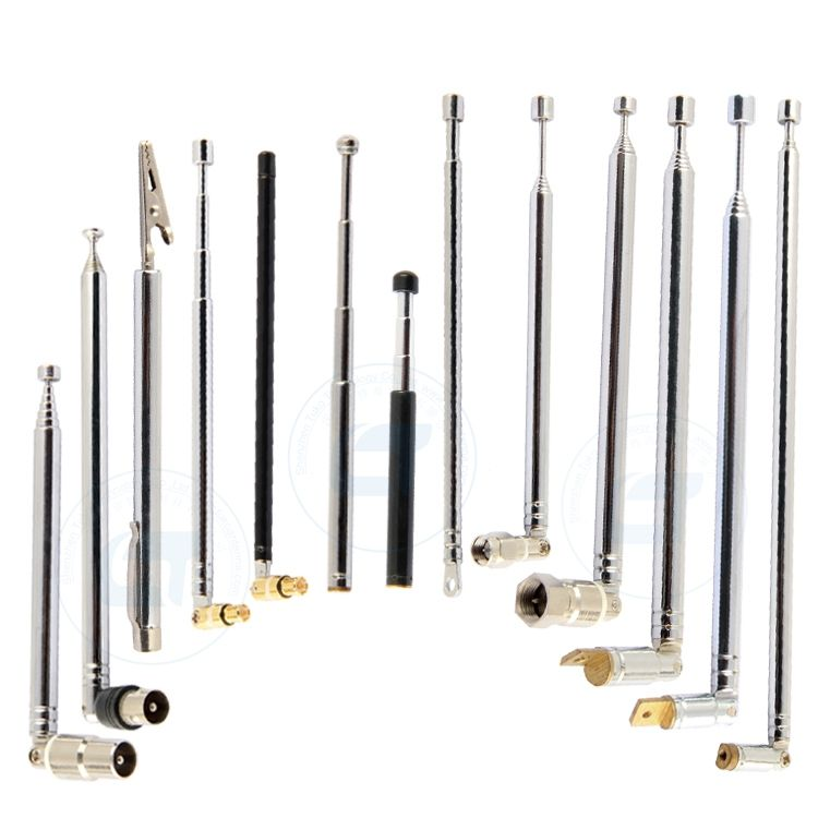 Wholesale CUSTOMIZE stainless steel copper toy antenna fm radio rod telescopic antenna