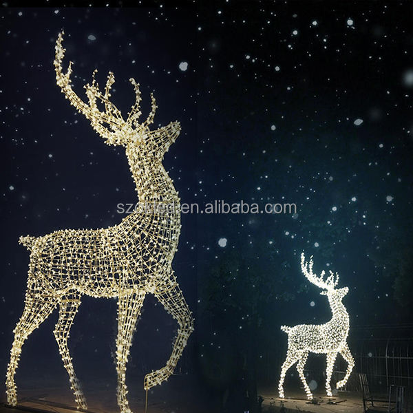 Giant LED Acrylic Reindeer Motif Light for Outdoor Christmas Decoration Zhongshan