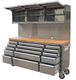 72 inch heavy duty roller tool chest/tool cabinet with drawer and wooden top