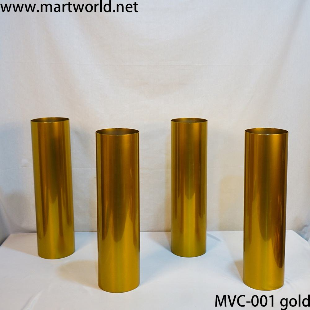 New style vase gold round cylinder vase wedding centerpieces for decoration for weeding party home hotel decoration (MAC-010)