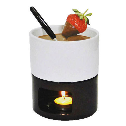 New Product Brown And White Mini Chocolate Fondue