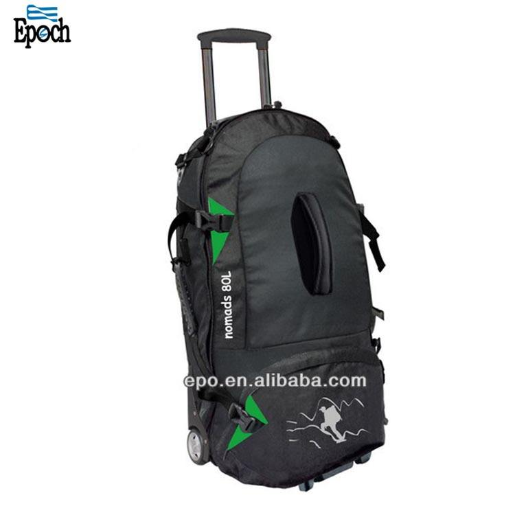 Detachable multifunctional travel trolley Duffle backpack Leisure travel luggage bag on wheels