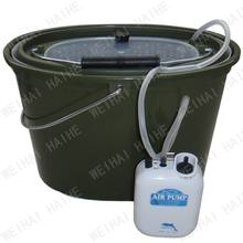 5 litres plastic fishing bucket with 2 speed air pump aerator