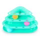 Lovely Funny Trangle Three Layers Cat Playing Toy Plastic Cat Toy Tower