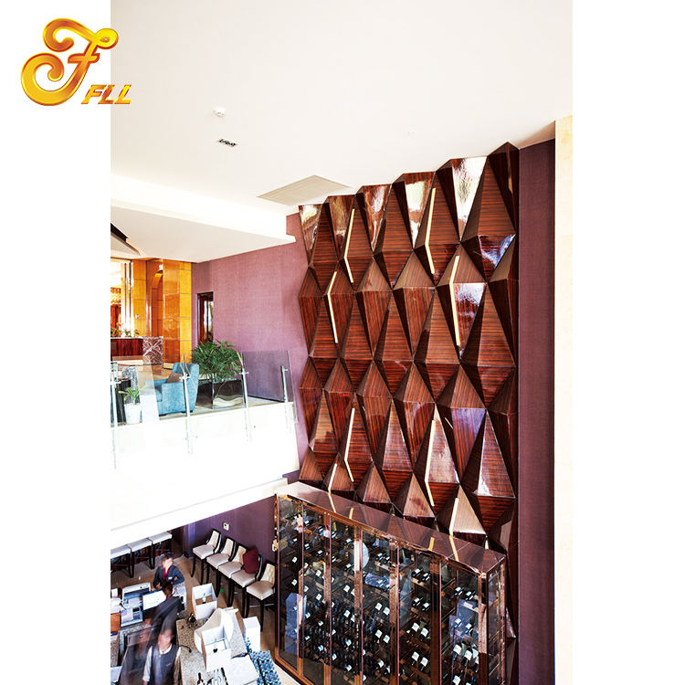 Hotel Furniture 3d Wood Wall Panel for Decoration