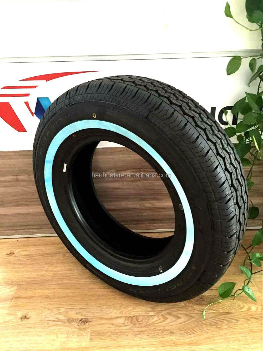 from car tire factory in China of 155r 13C blue side wall coloured car tire