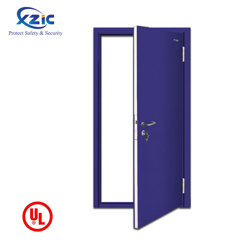 30 inch fire emergency exit entry deur met gehard glas en push bar