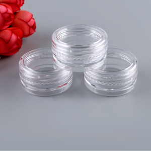 3g 5g 10g 15g 20g Plastic PS Facial Cream Container Mini Sample Jar Cosmetic Eye Cream Jar