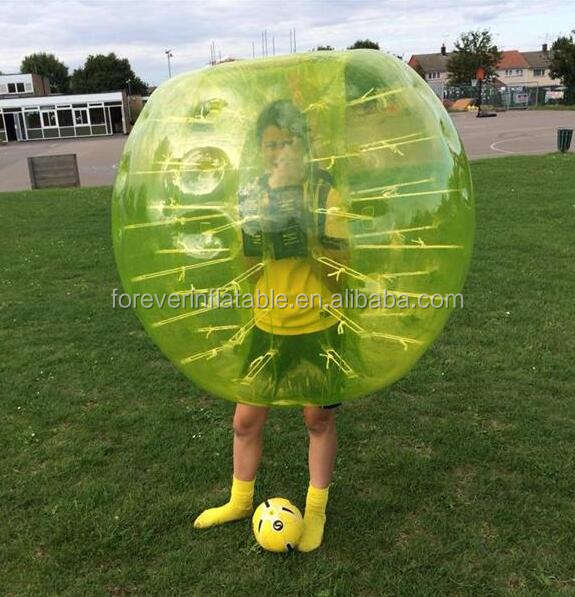 Attractive football inflatable body zorb ball