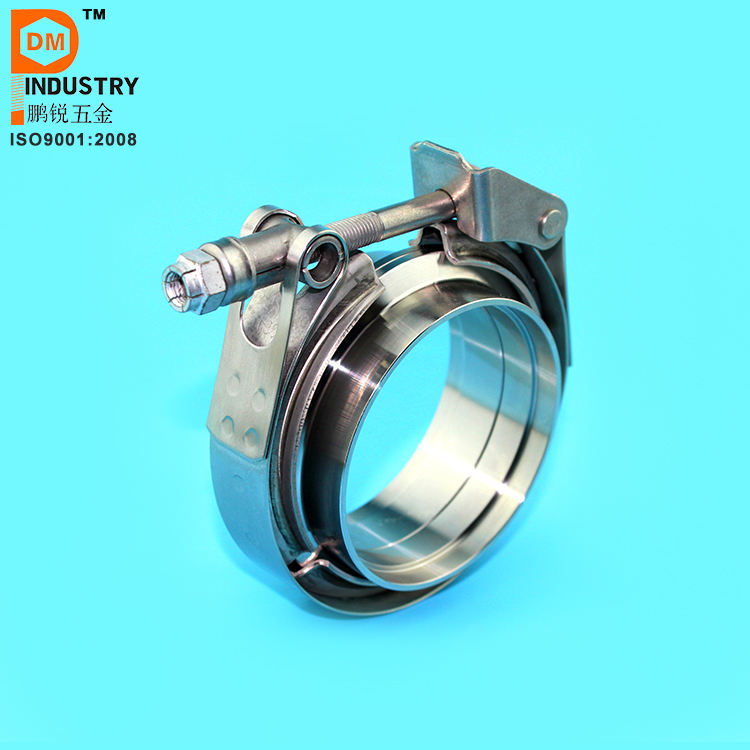 "3.5"" SS Male/Female Flanges Quick Release V Band Clamp"