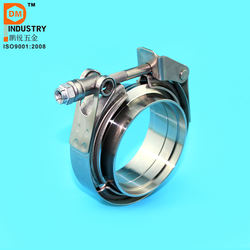 """3.5"""" SS Male/Female Flanges Quick Release V Band Clamp"""