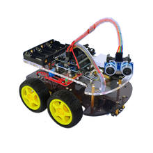 OEM/ODM Line-Track Obstacle Avoidance Anti-drop 4WD Car Chassis RC Car Kit